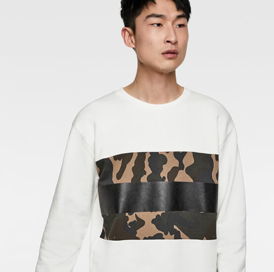 Swearshirt with camouflage